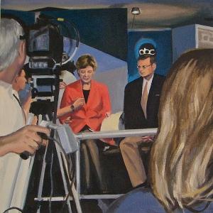 "Camera Ready, oil on canvas, 16"" x 16"", 2005"