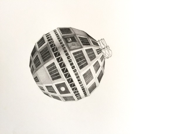 Telstar, detail, graphite on paper