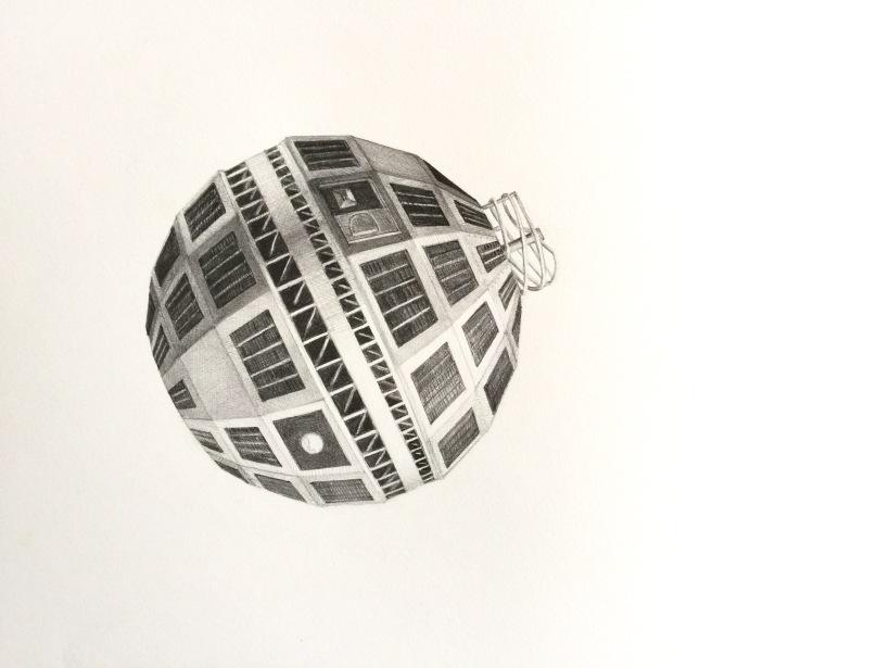 Telstar, detail, graphite on paper